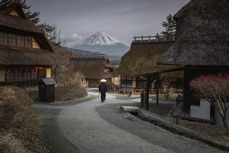 Samurai and Mount Fuji by Francis Ansing