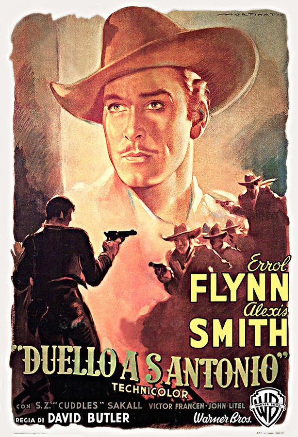 san Antonio With Errol Flynn, 1945 Mixed Media