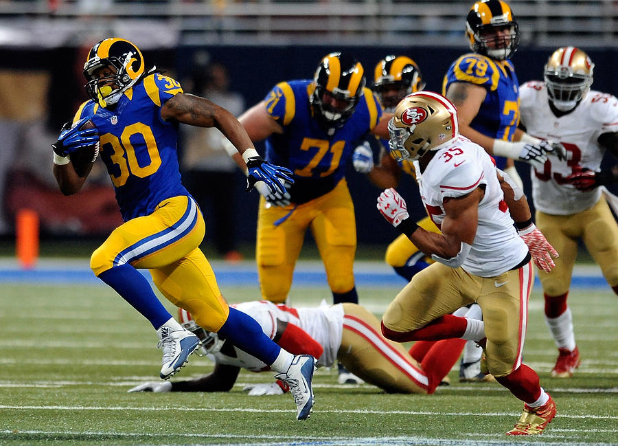 San Francisco 49ers v St Louis Rams Photograph by Michael B. Thomas
