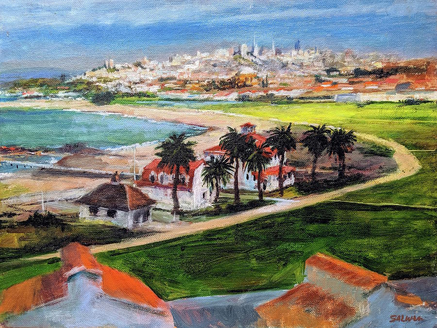 California Painting - San Francisco From Crissy Field Overlook by Peter Salwen