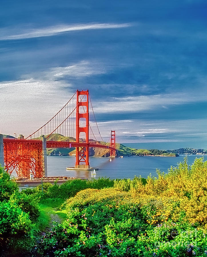 San Francisco Golden Gate Scenics South Side  by Tom Jelen