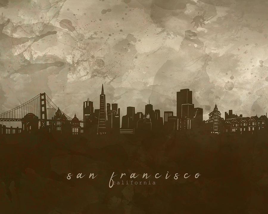 San Francisco Skyline Panorama 4 Digital Art