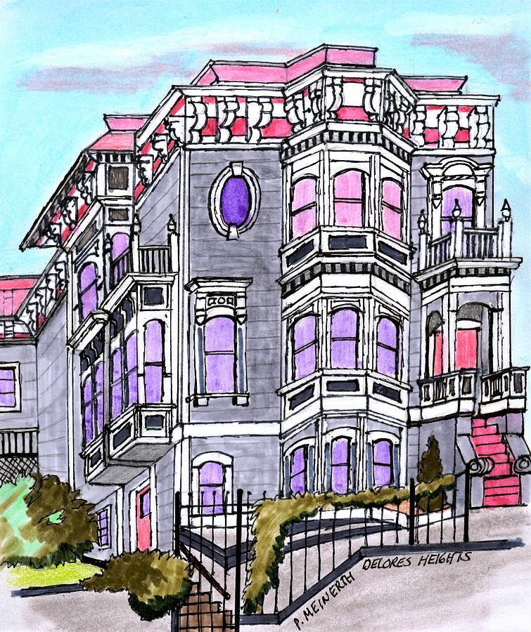 San Francisco Victorian Drawing