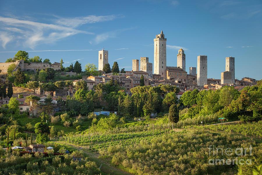 San Gimignano Evening - Tuscany Italy Photograph