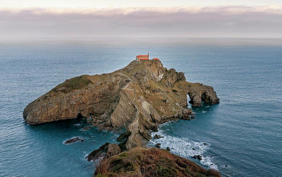 San Juan De Gaztelugatxe Biscay Bay Photograph