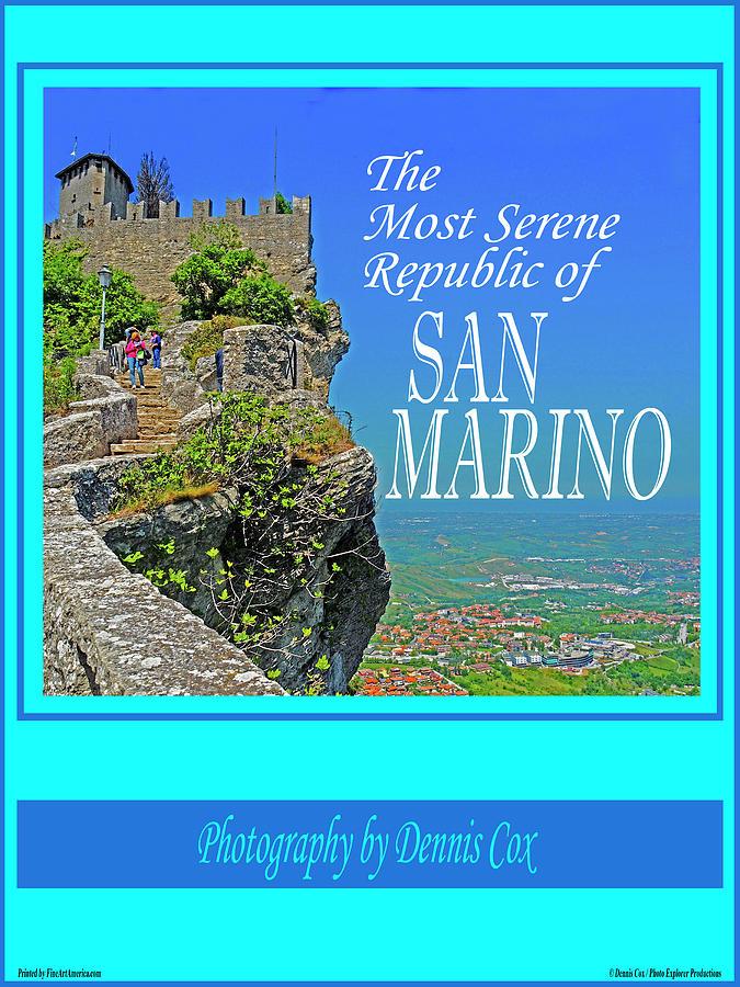 San Marino Travel Poster Photograph