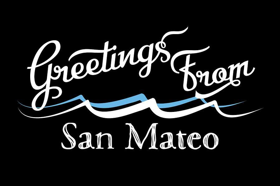 San Mateo Digital Art - San Mateo California Water Waves by Flo Karp