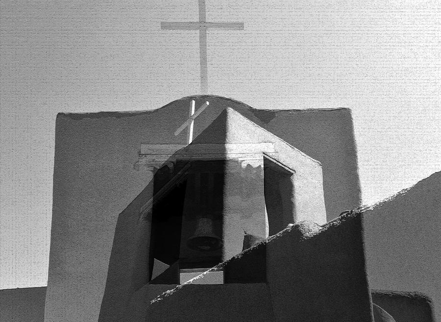 San Miguel Chapel Fine Art Mash Up Photograph