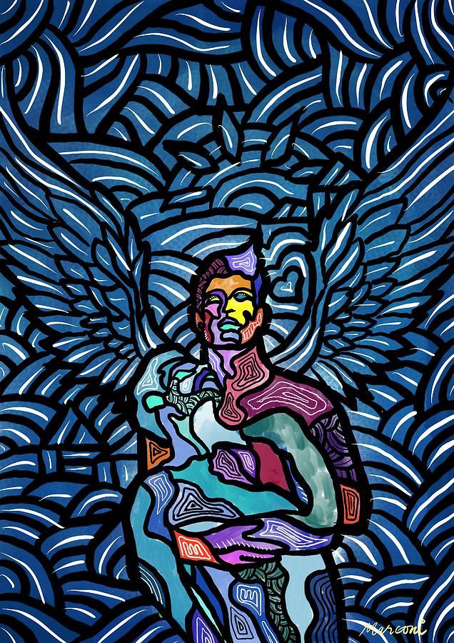 Angels Digital Art - Sanctuary by Marconi Calindas