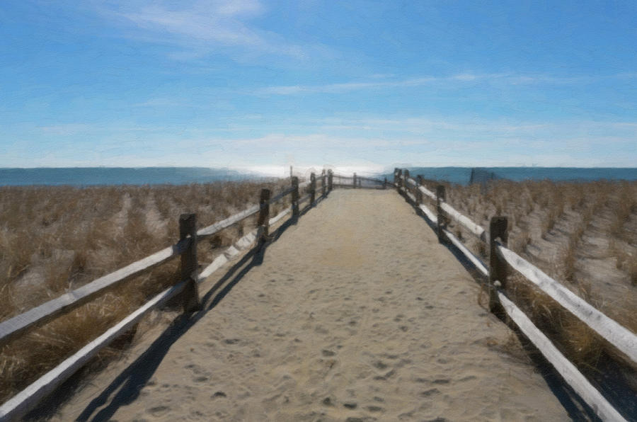 Sand Covered Path to Beach by Barbara Rogers