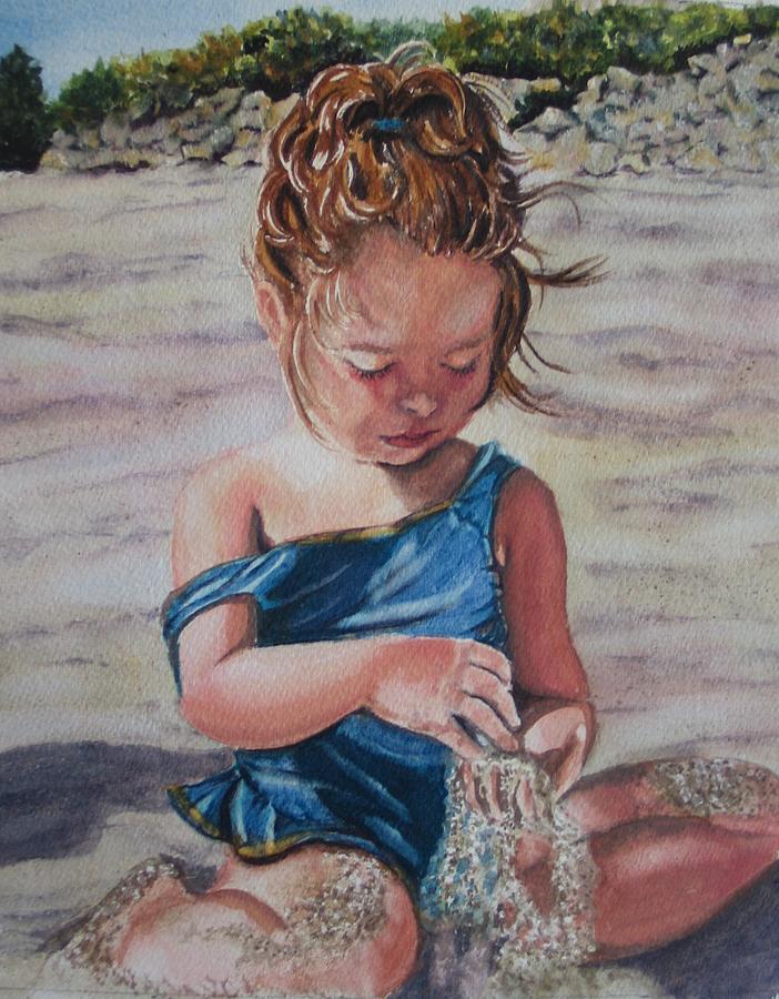 Beach Painting - Sand by Karen Ilari
