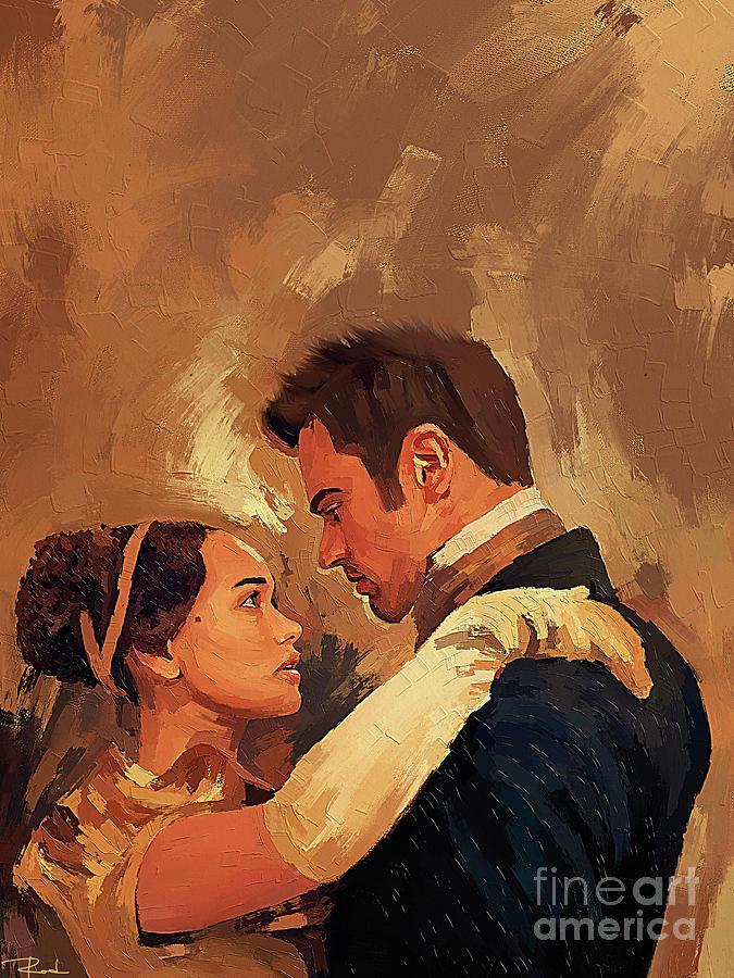 Sanditon Painting - Sanditon Painting - Charlotte Heywood and Sidney Parker by Rodrigo Artist