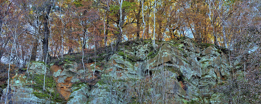 Sandstone Photograph - Sandstone Cliff Panorama by Bonfire Photography
