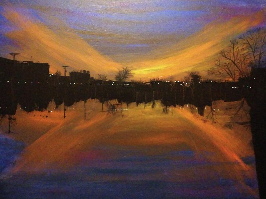 Sandusky River Sunset by April Clay