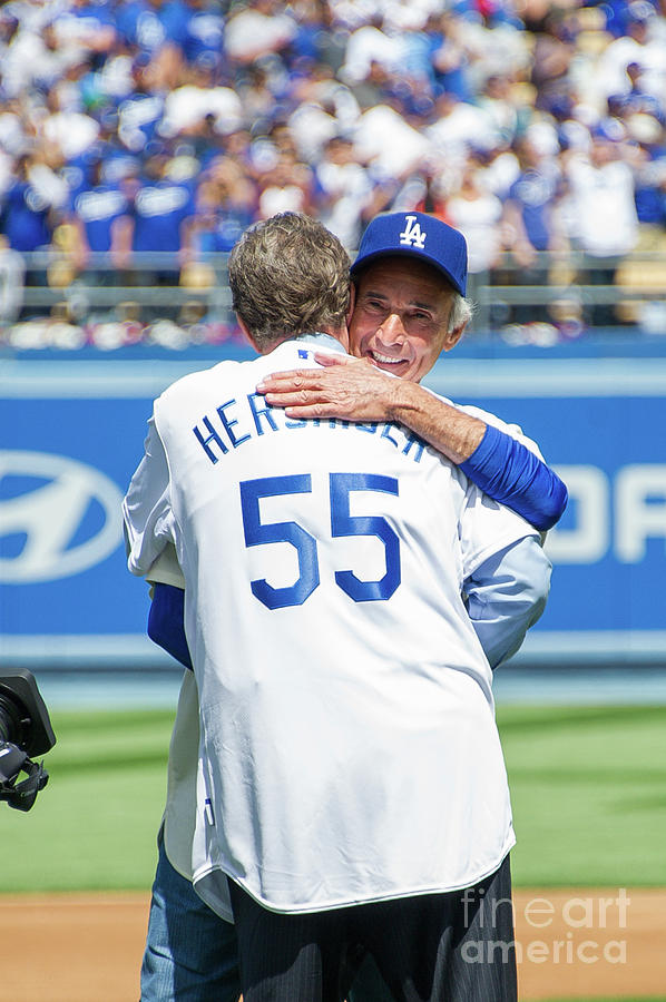 Sandy Koufax and Orel Hershiser Photograph by Noel Vasquez