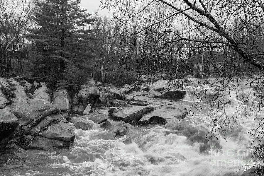 Sandy River Black And White Photograph