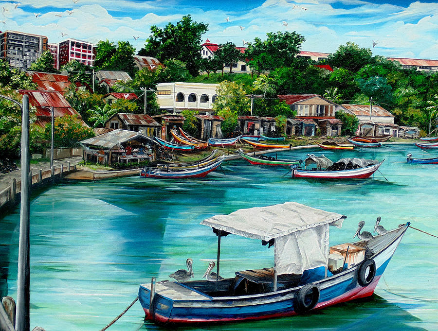 Sanfernando Wharf Painting by Karin  Dawn Kelshall- Best