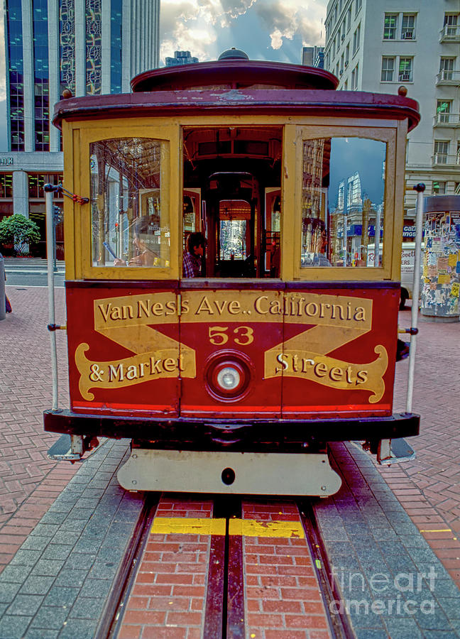 San Francisco Cable Car Powell Van Nuys and Market 3070200040 by Tom Jelen