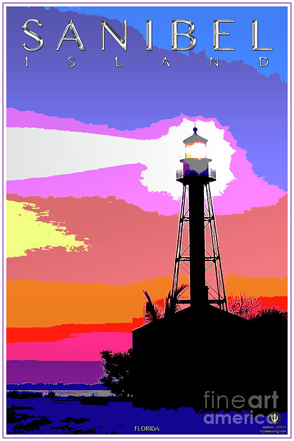 Sanibel Island Digital Art - Sanibel Island Lighthouse by Jason Neptune