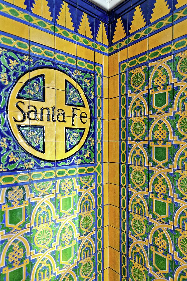 Santa Fe -- Talavera Tile at the Santa Fe Depot in San Diego, California by Darin Volpe