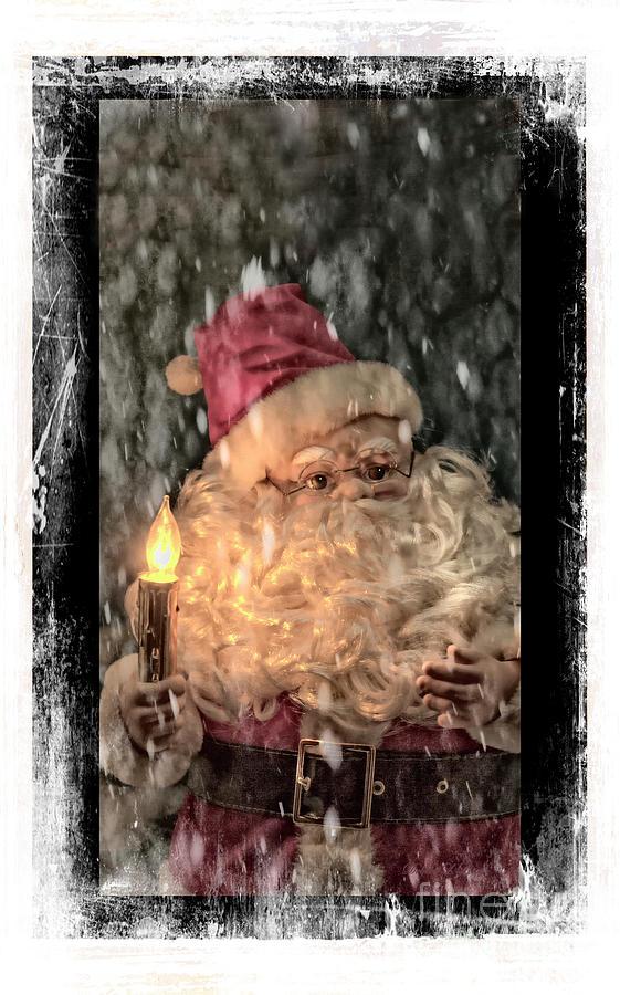 Santa In The Night Photograph