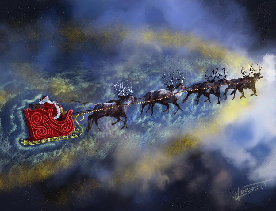 Santa in the Sky by David Luebbert