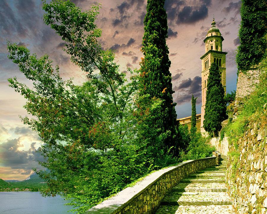 Horizontal Photograph - Santa Maria Del Sasso by Edmund Nagele