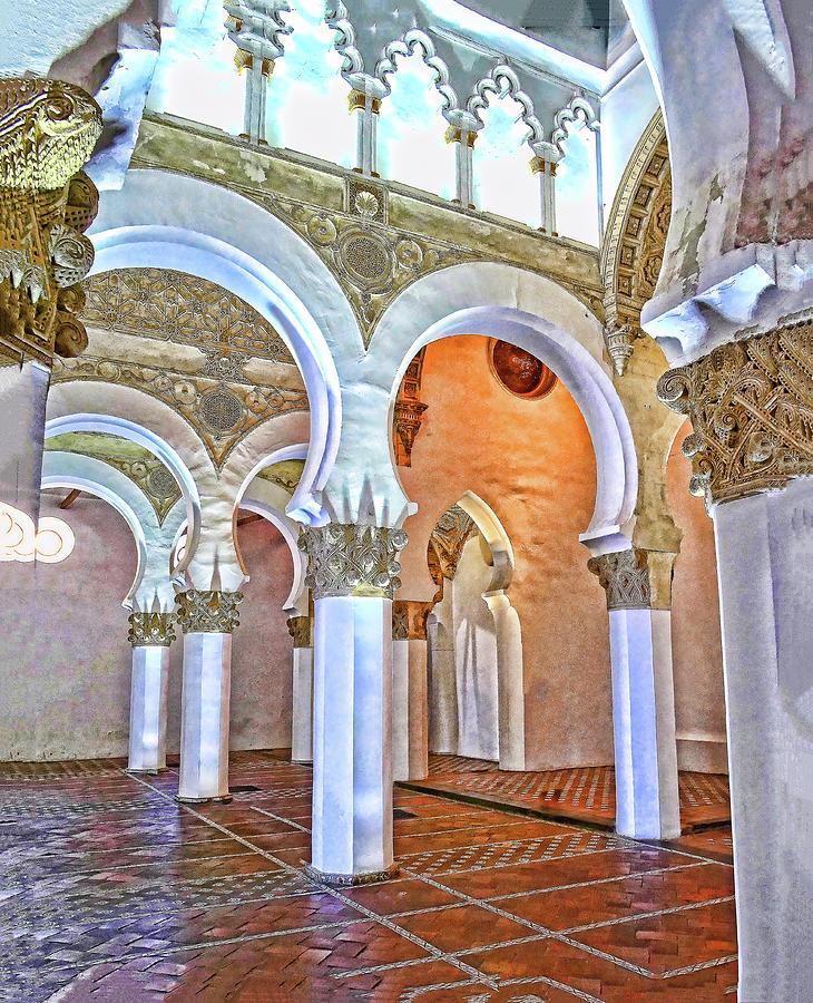 Santa Maria la Blanca # 3 - Toledo Spain by Allen Beatty