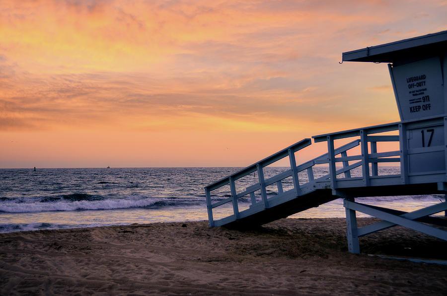 Santa Monica Beach Lifeguard Photograph