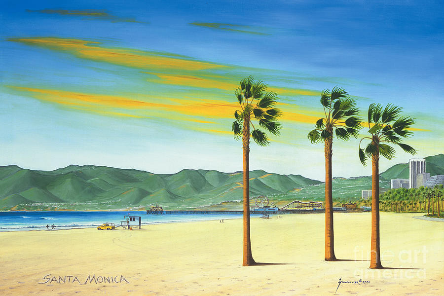 Santa Monica Painting - Santa Monica by Jerome Stumphauzer