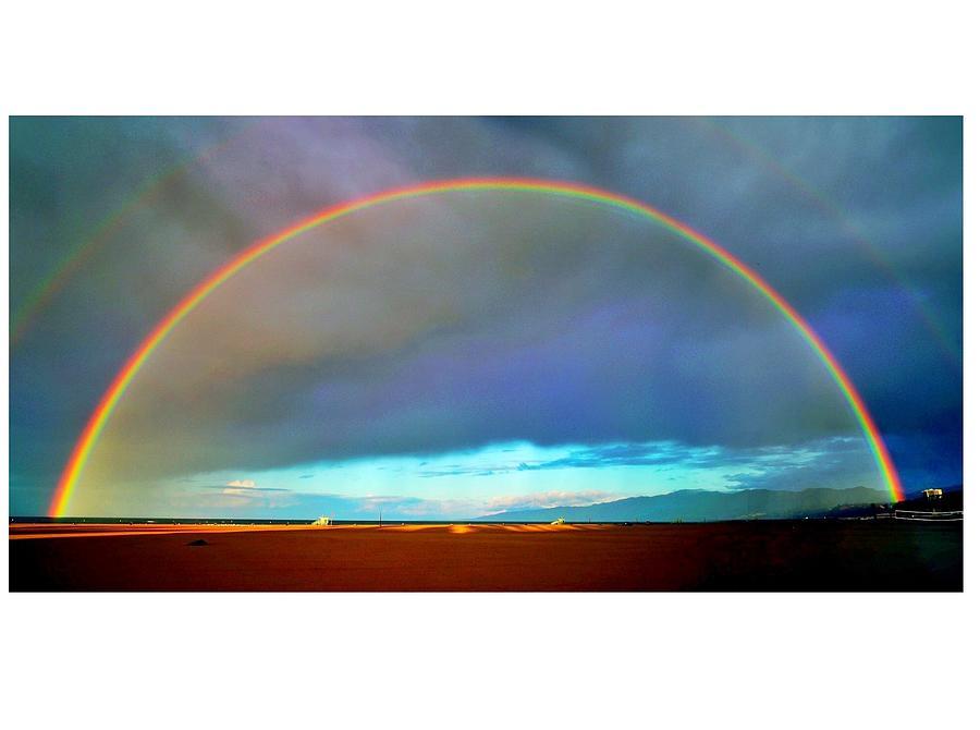 Rainbow Photograph - Santa Monica Rainbow by John Rodrigues