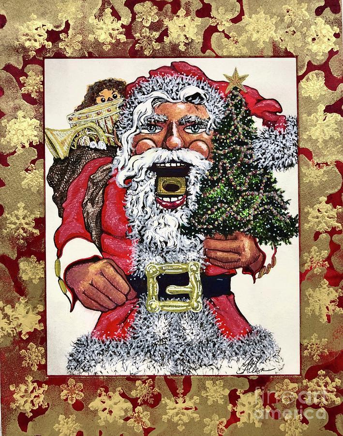 Santa Nutcracker #6 by Gail Allen