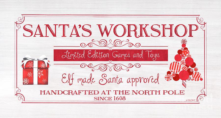 Candy Painting - Santas Workshop by Debbie DeWitt