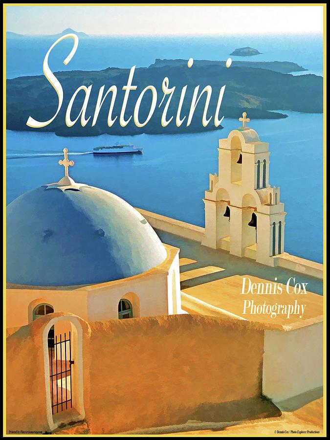 Santorini Travel Poster Photograph