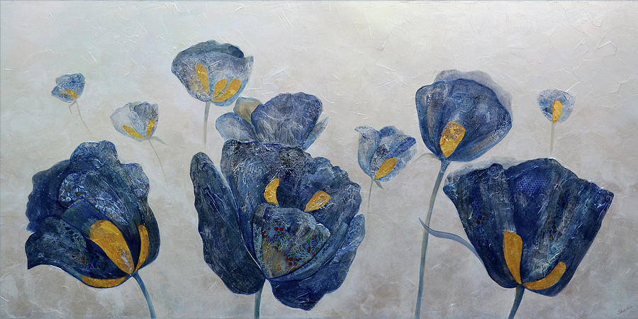 Sapphire Poppies Painting