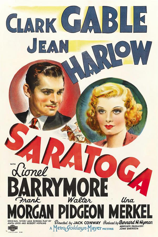 saratoga 2, With Clark Gable And Jean Harlow, 1937 Mixed Media
