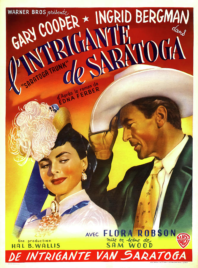 saratoga Trunk, With Gary Cooper And Ingrid Bergman, 1946 Mixed Media