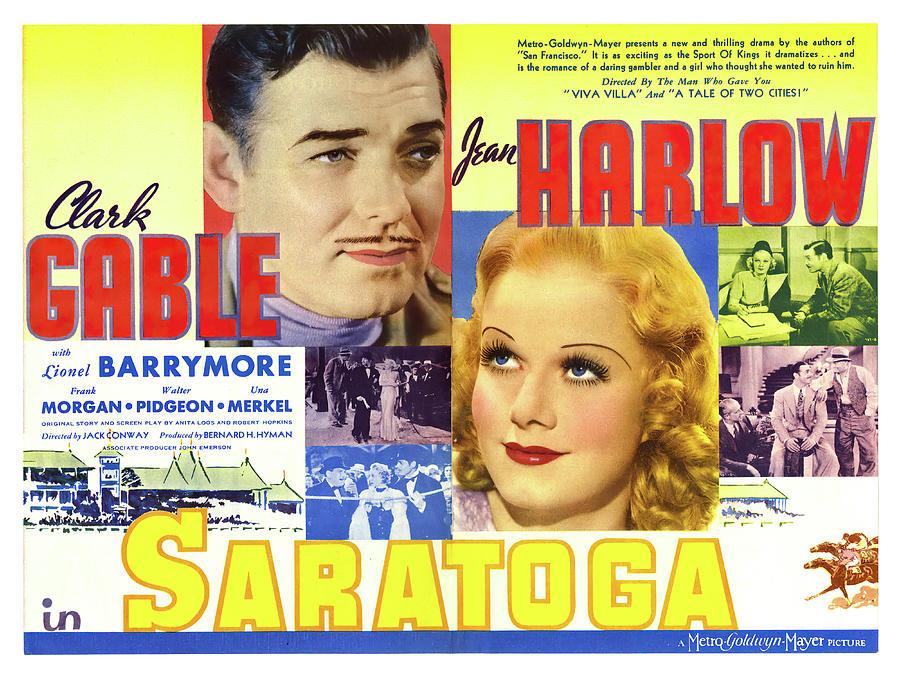 saratoga, With Clark Gable And Jean Harlow, 1937 Mixed Media