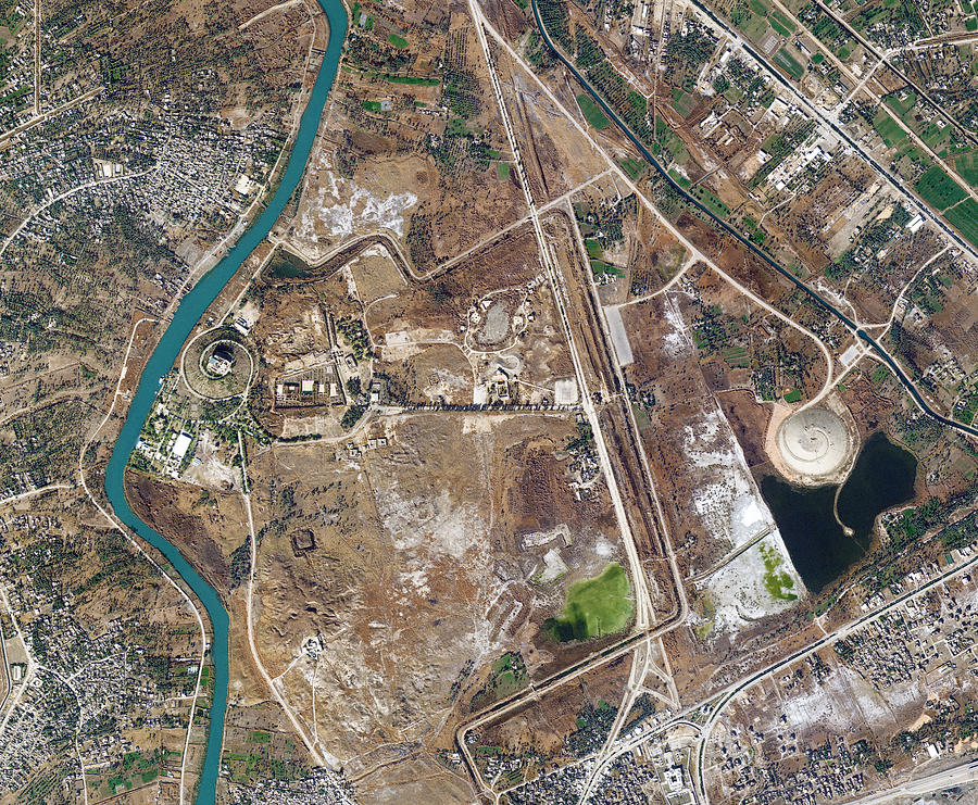 Satellite Image, Hanging Gardens of Babylon, Iraq Photograph by SI Imaging Services / Imazins