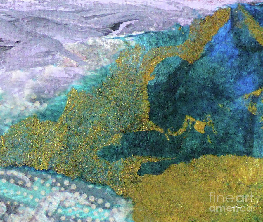Satellite View Abstract 300 by Sharon Williams Eng