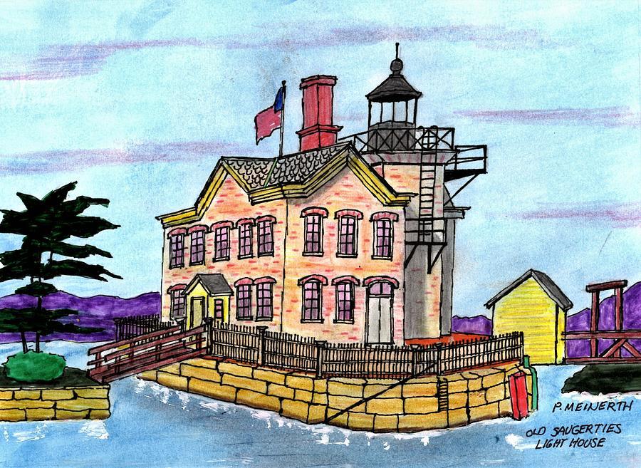 Saugerties Lighthouse Drawing