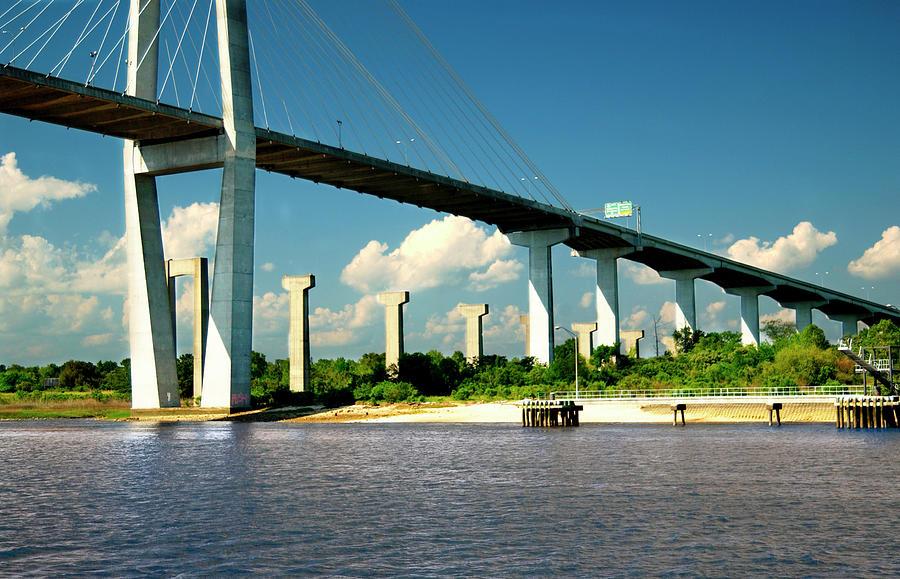 Savannah River Bridge Georgia S C Photograph