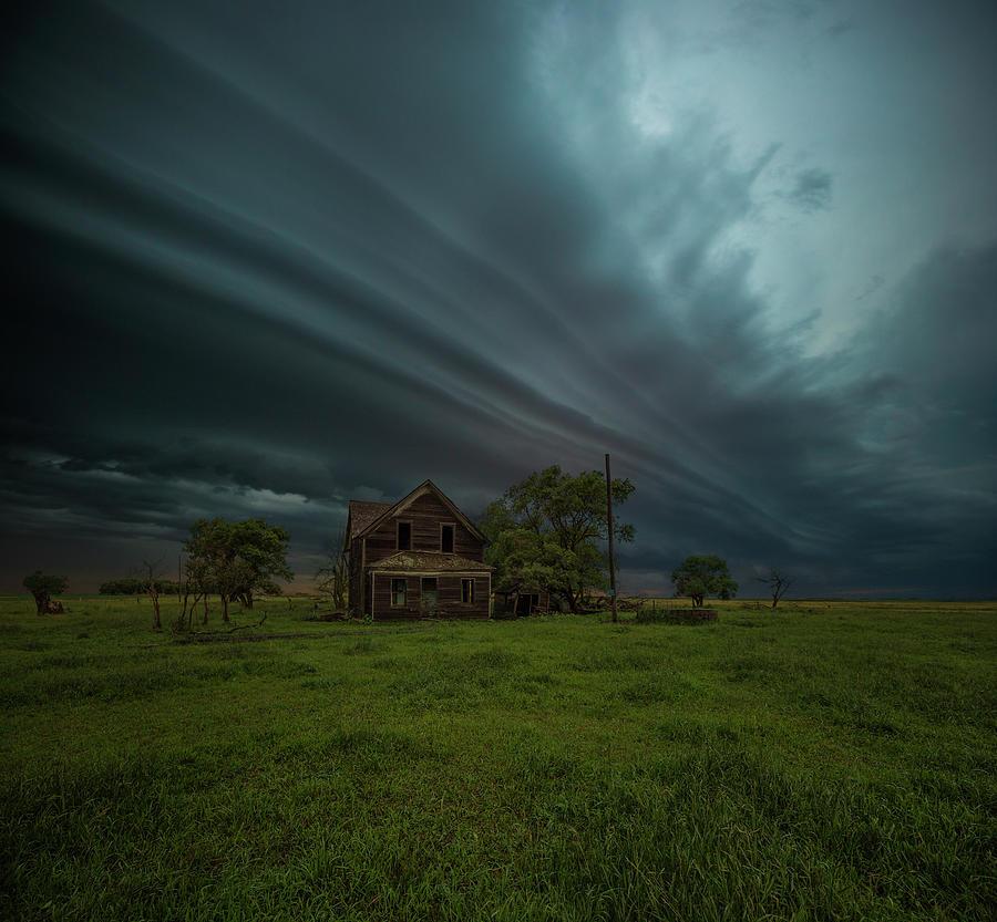 Shelf Cloud Photograph - Save Me by Aaron J Groen