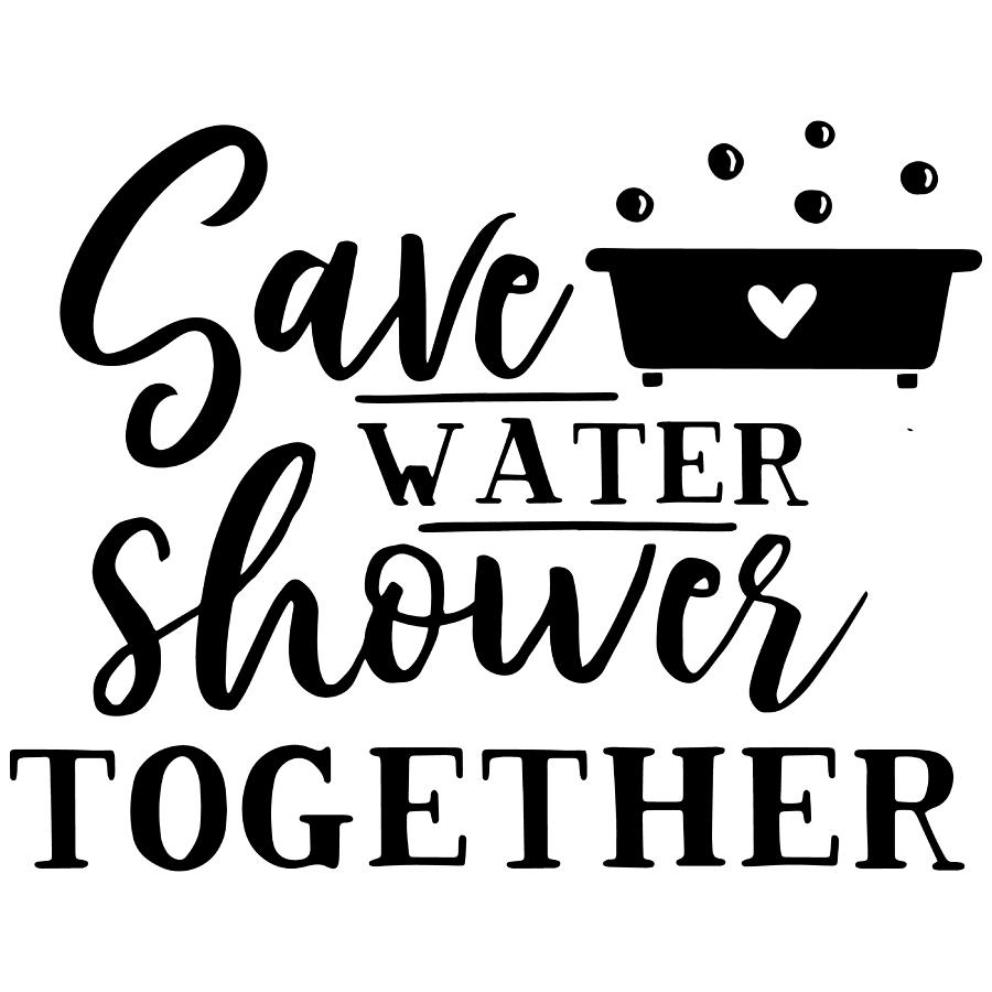 Save water shower together Valentine by Passion Loft