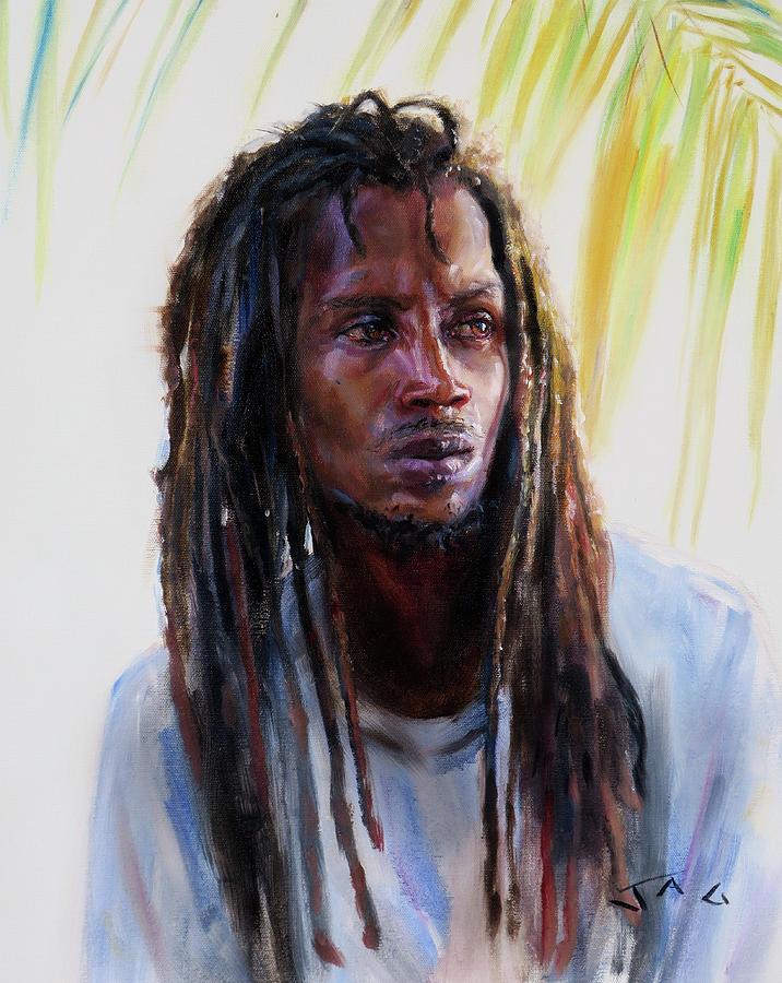 Rasta Painting - Sawan by Jonathan Gladding