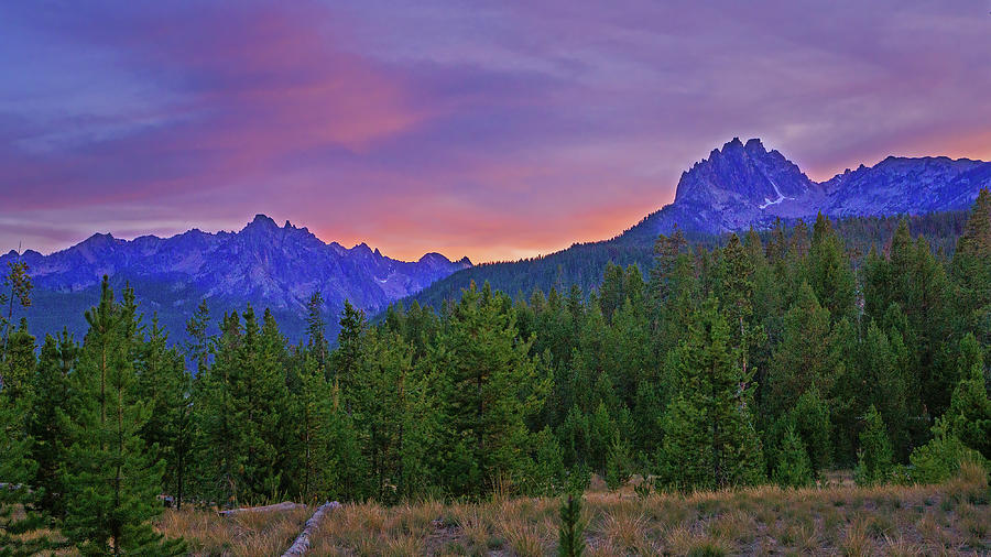 Sawtooth Sunset Photograph