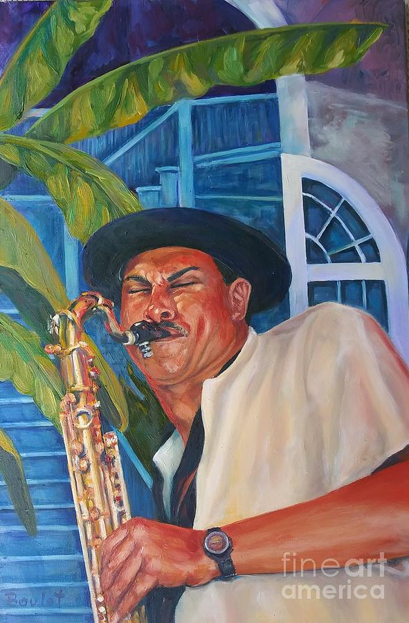 Sax in the Courtyard by Beverly Boulet