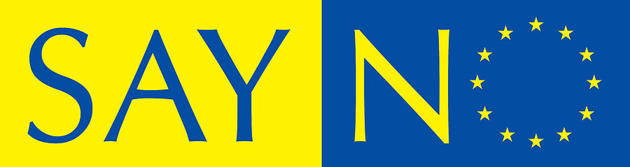 Eu Digital Art - Say no to the European Union by Stanislav Yatsenko