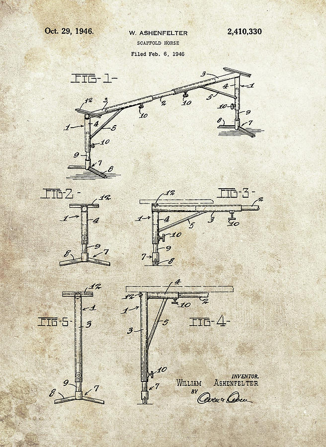 Scaffold Horse Patent Drawing