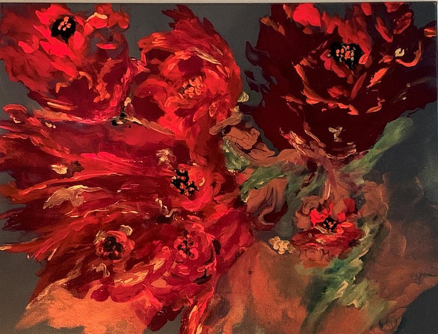 Scarlet Poppy Dance Painting